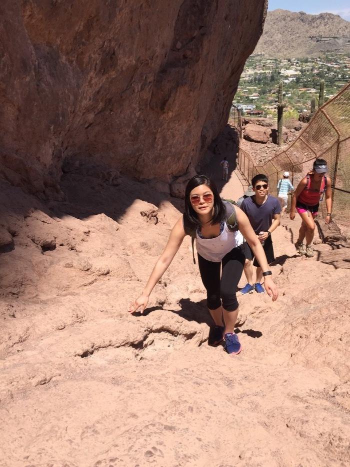 Climbing dem rocks