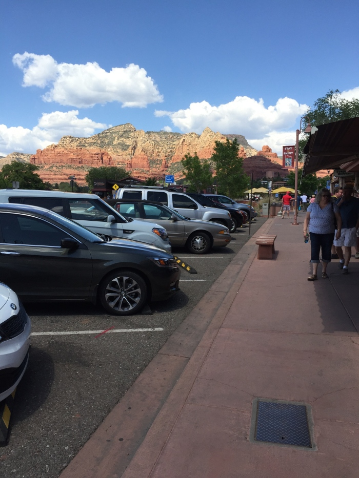 Uptown Sedona. No filter. The colors in the rocks and mountains are absolutely amazing and beautiful!