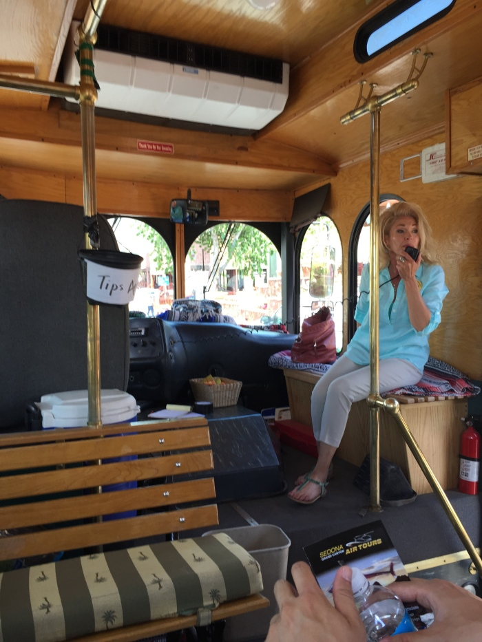 Red Rock Magic Trolley. They took us throughout Sedona and explained what each of the mountains are and their names! Pretty educational tour with some pretty corny jokes.