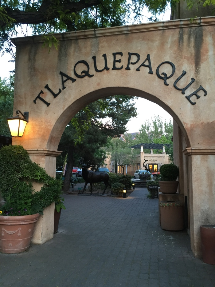 This is the Tlaquepaque Arts & Crafts Village. It features art galleries, craft shops in this cobblestoned area giving it a decorative touch feel.