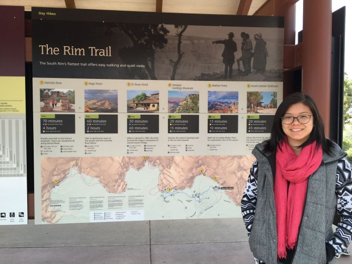 Visited the Grand Canyon visitor center to take a shuttle bus to the Bright Angel Trailhead.