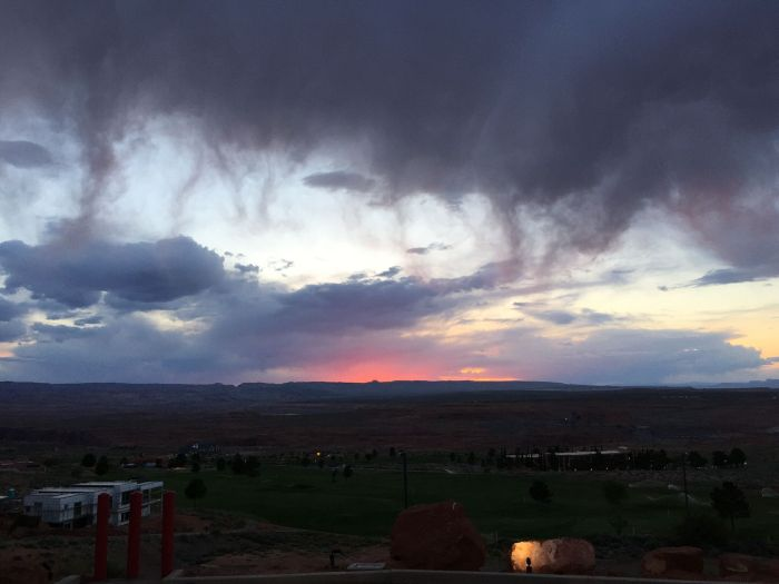 The sunset view from our hotel that night. The clouds in Arizona are interesting. They're like misty and feels like dropping down to earth.