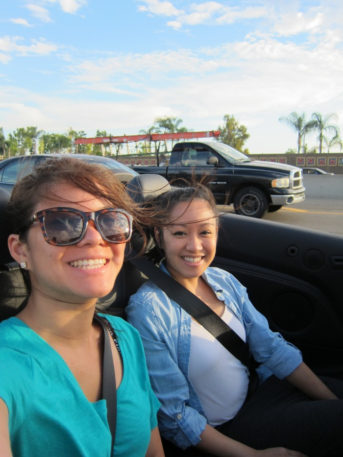 Convertible top down riding weather! Perfect for Cali adventures!