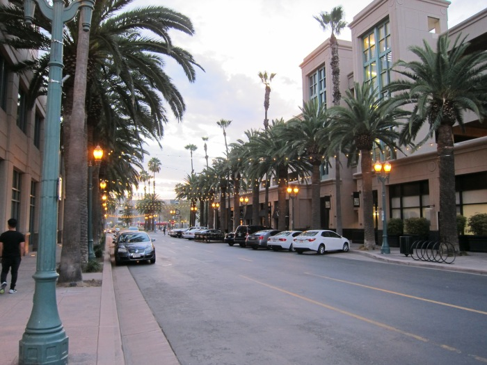 Strolling through downtown Anaheim.