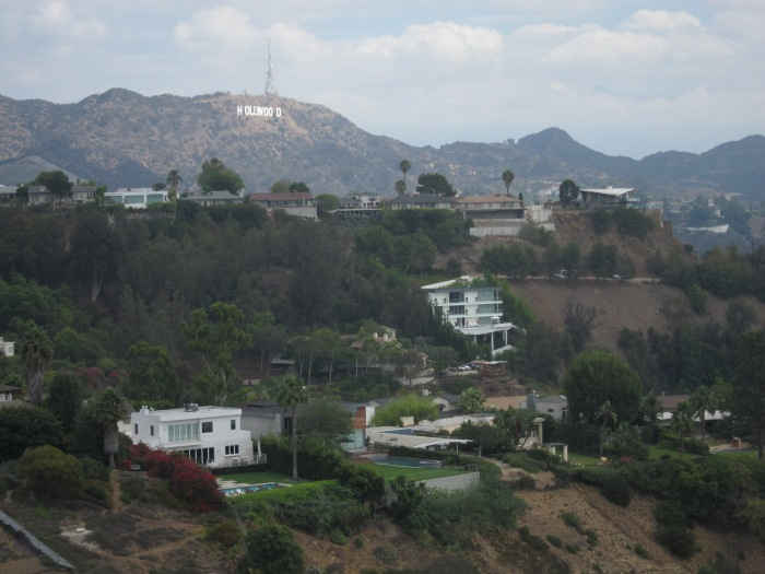 You can see the Hollywood sign up there!