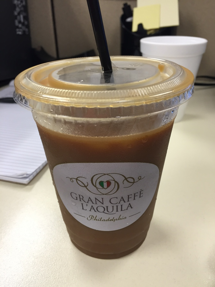Had to get a coffee in the afternoon. Jae took me to get some. I thought I needed some extra caffeine so I got a dark roast (Napoli). Later on in the evening, I could feel my hands shaking. And I only drank half of my coffee. That's some strong coffee.