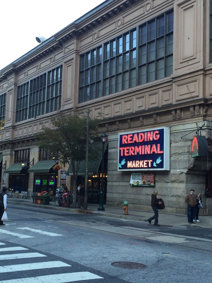 Walked over to the Reading Terminal Market from the hotel after work.