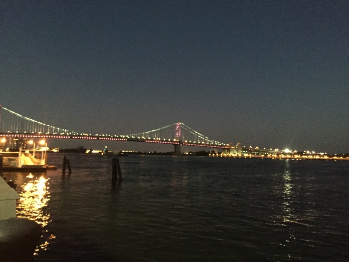 Ben Franklin Bridge - New Jersey on the other side of the river.