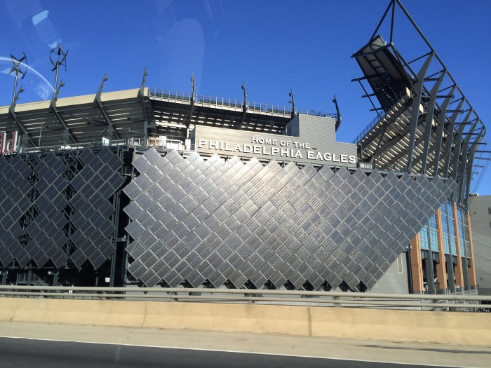 On the way to the airport - caught a glimpse of the Eagles stadium!