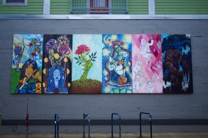 Art was everywhere in Alberta. Murals, graffiti, and random statues