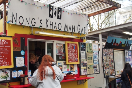 Nong's Food Truck in downtown Portland