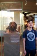 The actual height of the Homo heidelbergensis compared to Wilson