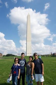 Thai family at the Washington Monument