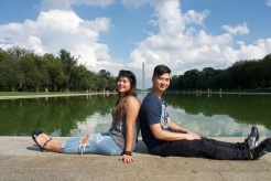 Sibling shot with the Washington Monument in the background!